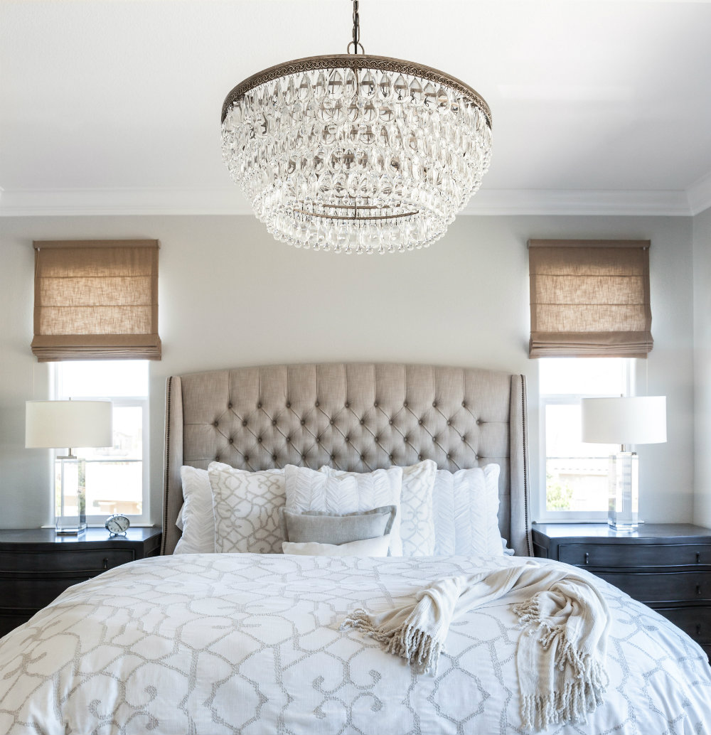 How to place a chandelier in every room modern chandeliers its also a great idea to place it over a bed the two pieces will compliment each other and create a romantic ambiance just be aware of the first two tips arubaitofo Images