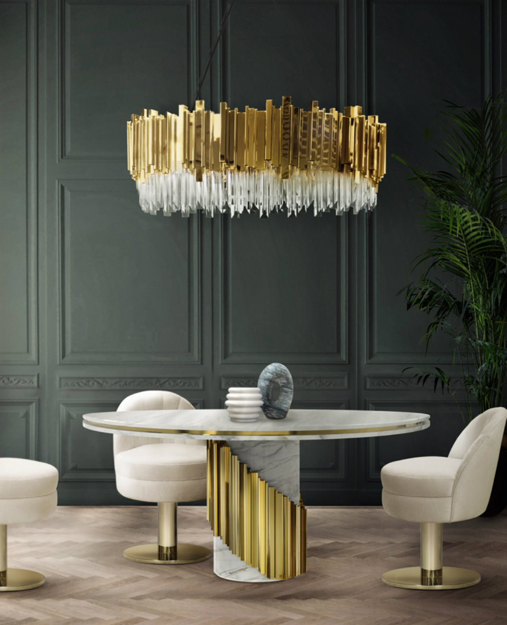 Color Trends 2019: How To Use White & Gold In A Luxury Decor