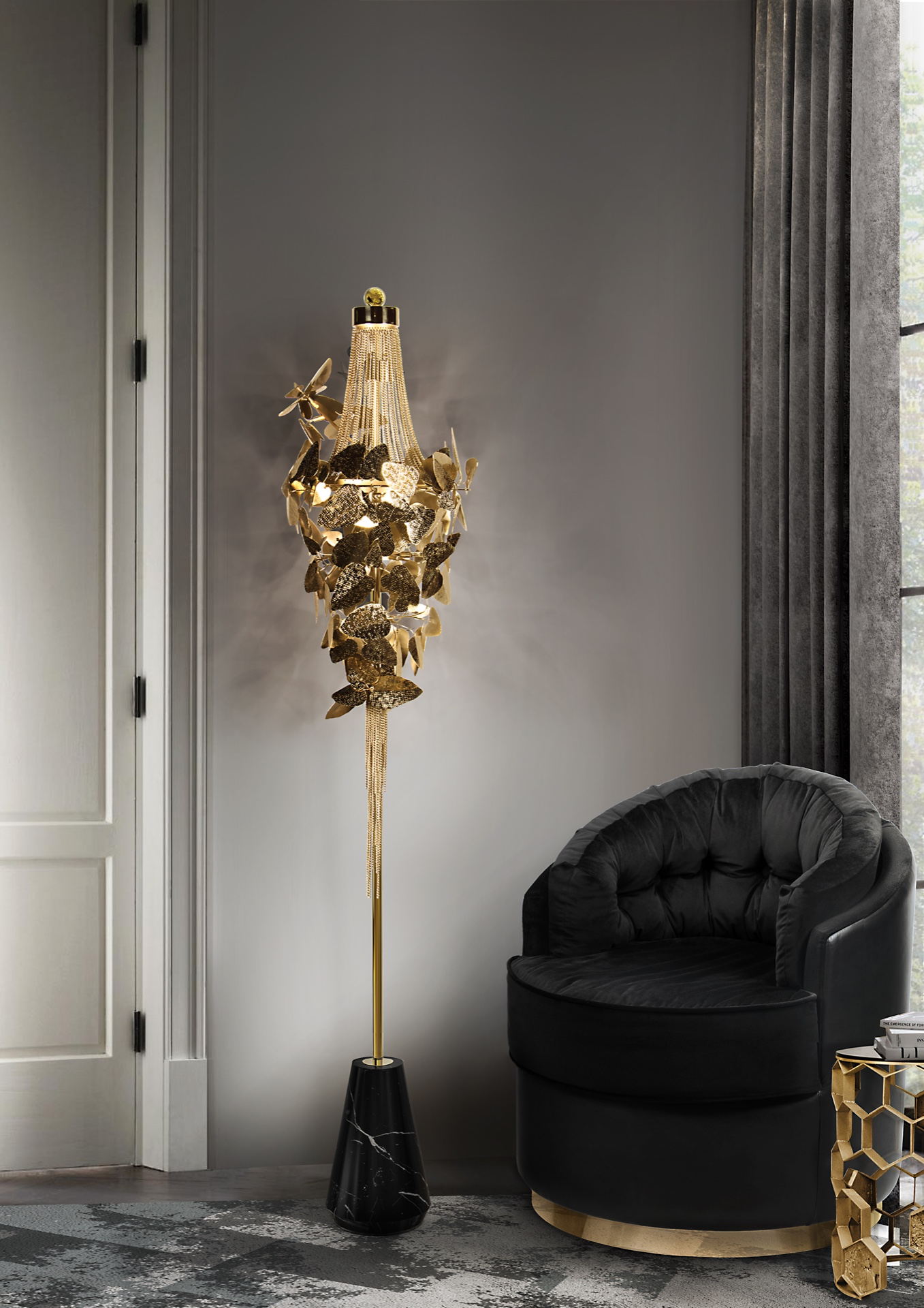 luxurious floor lighting floor lamp