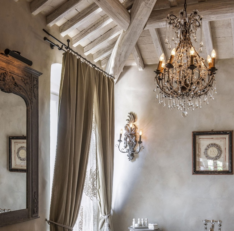 5 Bathroom Lighting Ideas You Need To See French-inspired chandelier,