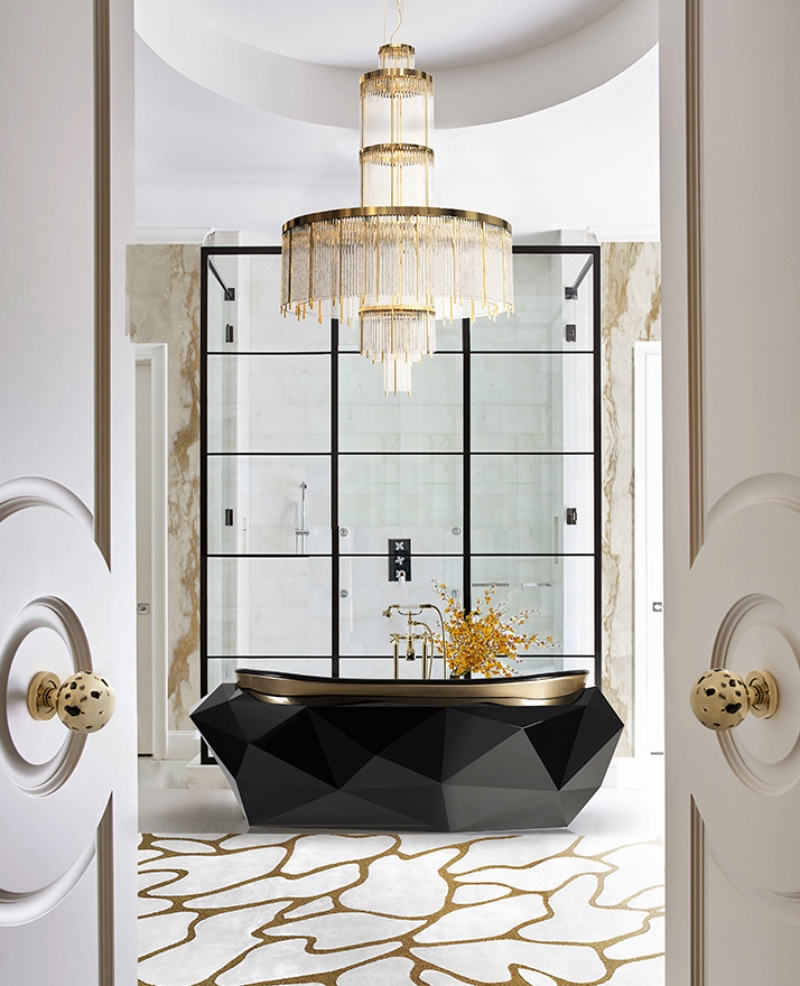 5 Bathroom Lighting Ideas You Need To See imposing chandelier,