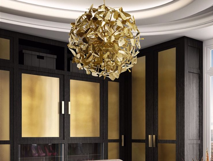 Closet Lighting Ideas For a Luxurious Space , crystal chandelier,