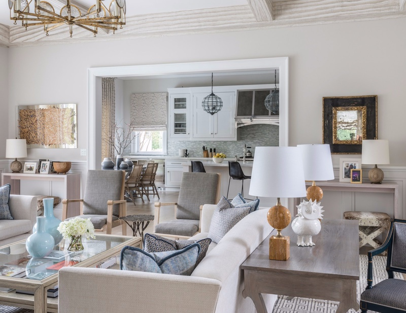 Getaway Lighting Inspiration_ A Project in the Hamptons Carousel chandelier