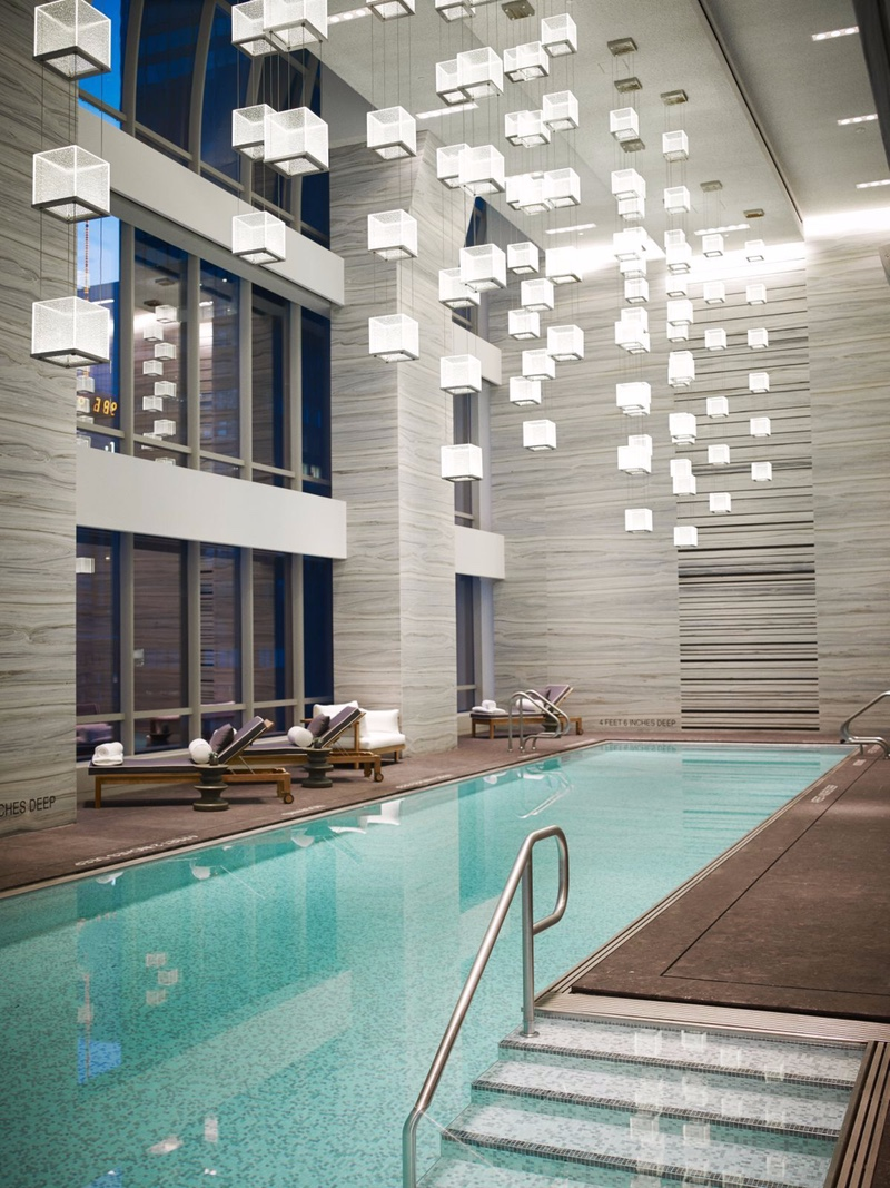 Indoor Swimming Pool Lighting Designs That Will Amaze You detailed chandeliers-2