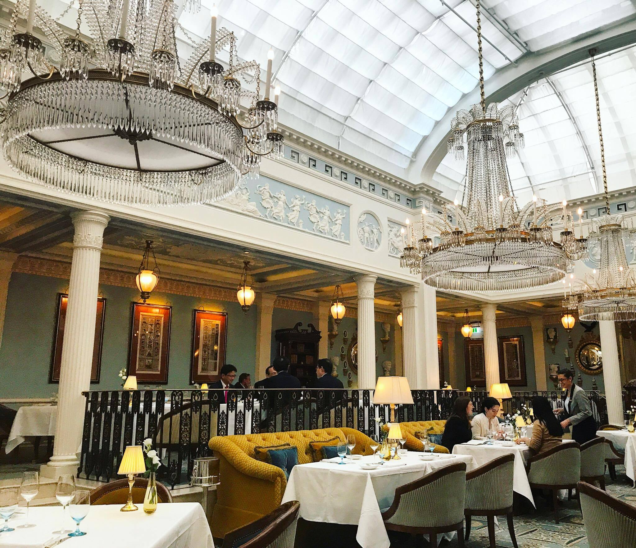 Luxury Chandeliers At Céleste Restaurant In London